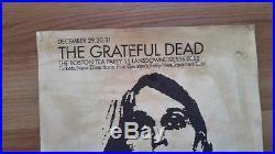 1960s Original Poster Promo Grateful Dead December Boston Tea Party Mass
