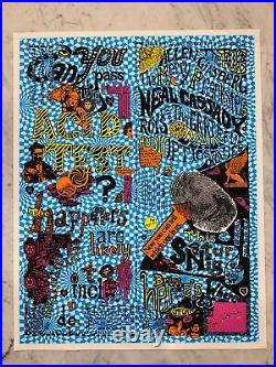 1965 Can You Pass the Acid Test LIMITED EDITION art print SIGNED by Ken Kesey