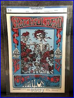 1966 FD-26 Grateful Dead Skeleton and Roses Concert Poster Graded CGC 9.6
