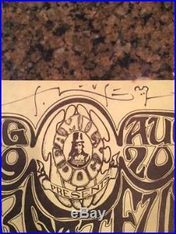 1966 Fd 22 Grateful Dead Avalon Ballroom Sf Handbill Signed By Mouse & Kelley