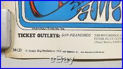 1966 Grateful Dead Family Dog Concert Poster Mouse Studios