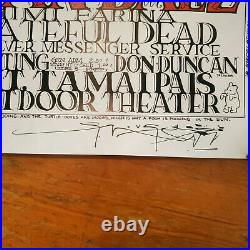 1966 Grateful Dead with Joan Baez Vintage Poster Peace Pooh signed by MOUSE