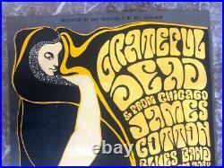 1966 ORIGINAL Poster GRATEFUL DEAD Wes Wilson FILLMORE San Francisco BG 38 OP