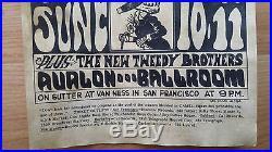 1966 Original Grateful Dead Quicksilver Wes Wilson Handbill