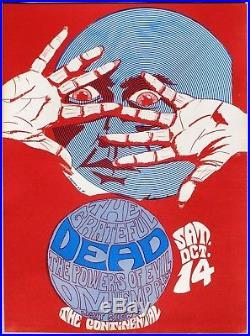 1967 GRATEFUL DEAD Concert Poster. Continental Ballroom, Santa Clara, Calif