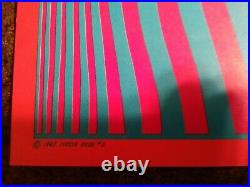 1967 Neon Rose Steve Miller Band Victor Moscoso Nr #2 Fillmore Era Matrix Poster