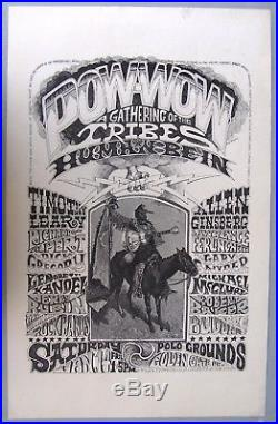 1967 Pow-Wow Gathering of the Tribes Poster, Grateful Dead+. Rick Griffin art
