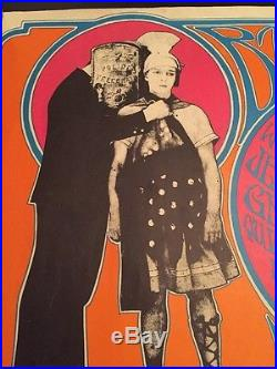 1967 Psychedelic Poster Jefferson Airplane Grateful Dead Moby Grape Fillmore
