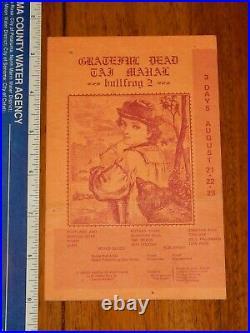 1969 Grateful Dead Bullfrog 2 Festival, St. Helens Oregon Concert Handbill