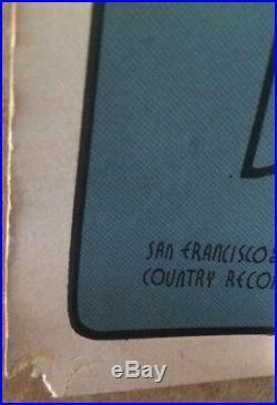 1969 Grateful Dead Ultra Rare 22x14 Original 1st Printing Concert Window Card