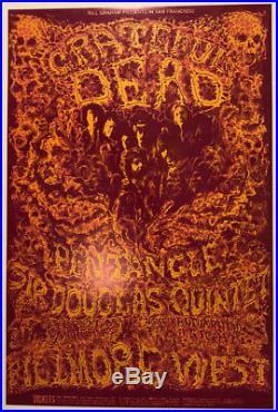 1969 Lee Conklin Grateful Dead Doug Sahm Bill Graham Fillmore Poster Bg 162 1st