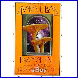1970 Original 1st Printing GRATEFUL DEAD Mushroom Man Bill Graham # 216 Poster