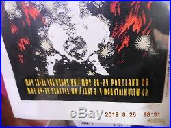 1995 Grateful Dead West coast tour Flaming Skeleton Alton Kelley poster sealed