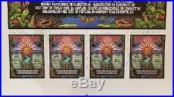 1997 Furthur MICHAEL EVERETT AP Poster SIGNED DOODLED Grateful Dead Black Crows