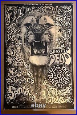 1st print BG 134 Grateful Dead Santana Steppenwolf 1968 Fillmore West Poster