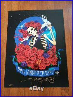 2-50th Anniversary Grateful Dead, Stanley Mouse Signed Numbered Posters, 2 set