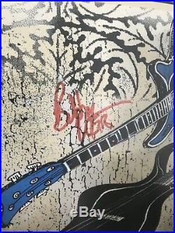 2009 First Furthur Oakland Fox Poster Dubois Signed By Phil Lesh and Bob Weir