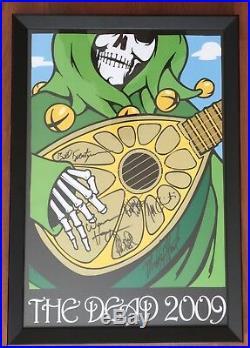 2009 The Dead Autographed Framed Poster Grim Reaper Grateful Dead Jeff Troldahl