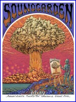 2010 Soundgarden Lollapalooza Chicago Screen Print Concert Poster by EMEK