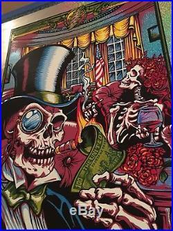 2015 Dead & Company D. C. Poster Print AJ Masthay S/N Sparkle Foil x/15 Grateful