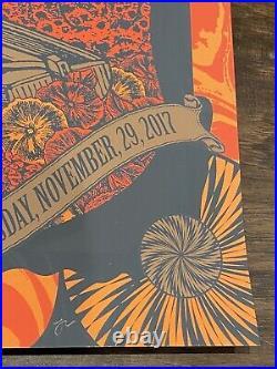 2017 Dead and Company 11/29 Atlanta GA Concert Poster Status Serigraph Grateful