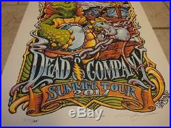 2017 Dead and Company Summer Tour VIP Poster AJ Masthay Signed & Numbered 18x24