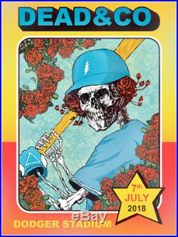 2018 Dead & Company 7/7 Dodger Stadium LA Poster Print Grateful Topps Baseball