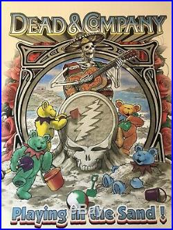 2018 Dead & Company Mexico Playing In The Sand Poster Limited Edition