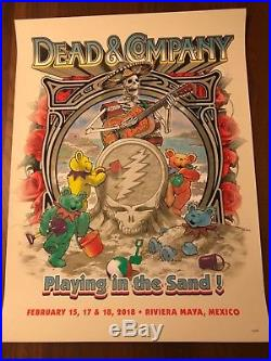 2018 Dead and & Company Mexico Playing In The Sand Poster Limited Edition