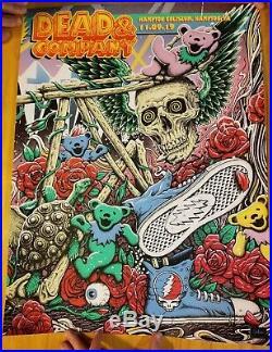 2019 Dead And Company Commemorative Hampton VIP Poster Limited 135/700