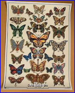 2019 Dead & Company VIP BUTTERFLIES by EMEK Tour Poster Signed/Numbered