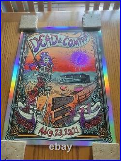 2021 Dead and Company Bethel Poster Rainbow Foil