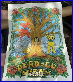 2021 Dead and Company Raleigh poster