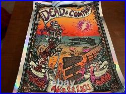 2021 dead and company bethel woods rainbow foil poster