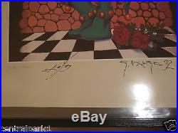 4 lot Rare Grateful Dead Signed Numbered Mouse Kelley series 1040/2500 edition