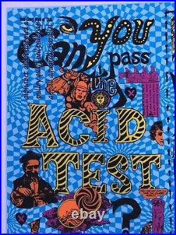 ACID TEST POSTER Signed by Ken Kesey Grateful Dead Merry Pranksters Ginsberg