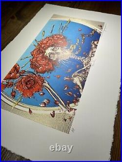 AJ Masthay Bertha GOLD GILDED Art Print Giclee Poster Grateful Dead Signed AP