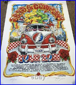 AJ Masthay Dead And Company 2021 Tour Poster MINT