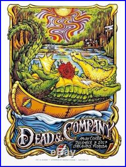 AJ Masthay Dead & Company Orlando Artist Edition #/50 Signed and doodled