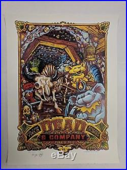 AJ Masthay Dead and Company Boulder CO Grateful Concert Poster Dancing Bear