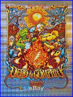 AJ Masthay Dead and Company Summer Tour 2018 Stained Glass Foil Poster S/N XX/50