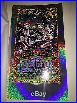 AJ Masthay Grateful Dead Fare Thee Well Chicago Day 3 FOIL poster ed. Of 50