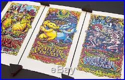 AJ Masthay Grateful Dead GD50 Fare Thee Well Chicago Triptych Poster Print Set