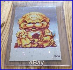 AJ Masthay Grateful Dead Limited Edition Buddha Dancing Bear on Foil x/200