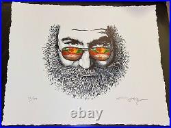 AJ Masthay Palm Sunday, Jerry Garcia #351/500 Embossed Print, MINT, PERFECT