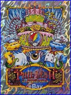 AJ Masthay Phil Lesh & Friends Capitol Theatre Lava Foil Print XX/76