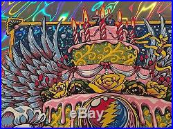 AJ Masthay Print Phil Lesh & Friends 76th Bday at The Capitol Theatre Lava Foil