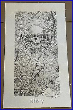 AJ Masthay Ripple Graphite Variant Art Print Grateful Dead AP Hand Signed Poster