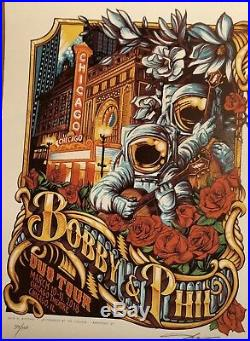 AJ Masthay poster BOB Weir PHIL Lesh Duo Tour Chicago Theater 2018 Grateful Dead