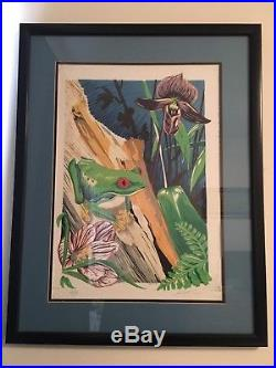 AJ Masthay red Eye With Orchid Art Print 2003 Grateful Dead Phish